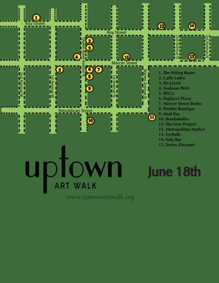 Map for Uptown Art Walk